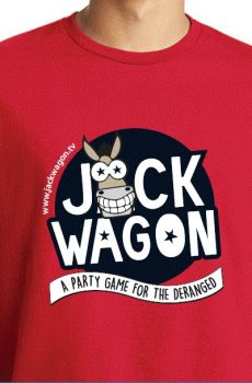 Jackwagon Mens T-Shirt in Red